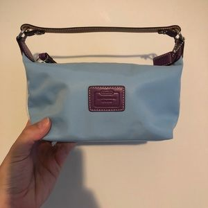 Coach baby blue small purse purple details